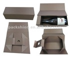 Rigid Paper Wine Gift Box with Folding Style