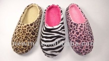 Hot sale Leopard and Zebra indoor lady slipper
