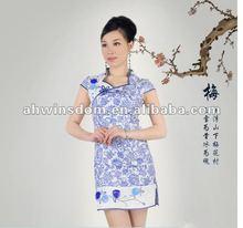 2012 fashion drunk blue and white cheongsam wedding dress