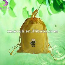 2012 factory promot foldable non woven drawstring gift bag for shopping