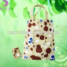 hot selling 2012 factory price promotion non woven foldable shopping bag in pouch
