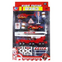 1:87 alloy fire control model car combination