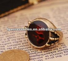 Male Skull Ring Fashion Inner Engraved Skull Ring