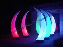 2012 decoration inflatable tusk/inflatable cone with led light/Inflatable Lighting Products (Cone-113)