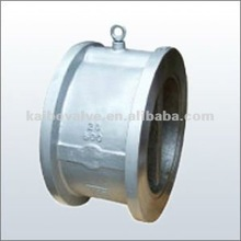 Dual plate wafer check valve(wcb or stainless steel materail)