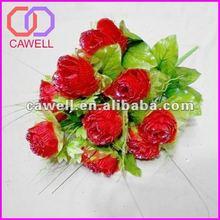 2012 plastic artificial flower bouquet for wedding