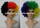 Synthetic fiber football sports fan wig