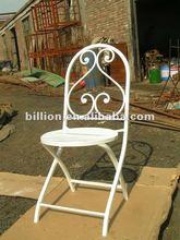 2012 china manufacturer new design wrought iron dinner chair iron garden chairs garden bench