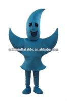 customized star shape mascot costume blue fur fancy costume