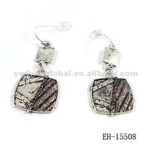 2012 Summer fashion antique silver pendant earring