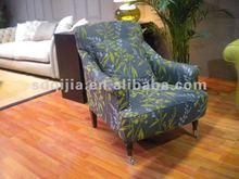 Ruby Modern European style living room fabric single sofa chair