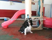 interlocked dogbone rubber tile