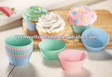 classic shape silicone cup cake mold