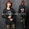 "PUNK N""ROCK HOODIE SHAPE GRAY BRUSH SLEEVE CLASSIC JACKET 71184"