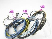 fashion thin leather rope bracelets, fashion color rope, string bracelets,economic bracelet jewelry