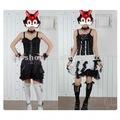 lolita gotik serseri GLP görsel Lolita 61154 yayları mini etek beyaz