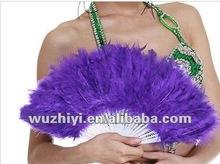 2012 Latest Black Belly Dance Turkey Feather Fan