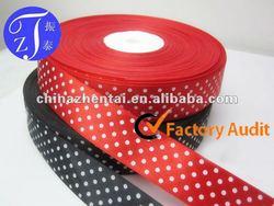 printed ribbon polk dots