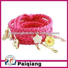 Long design leather wrap bracelet