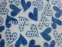 beautiful heart design coral fleece fabric