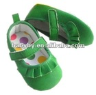 2012 new model light green olive air dress girls summer shoes for infant baby BH-GB092E