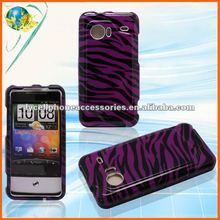 For HTC Legend G6 A6363 purple&black zebra glossy mobile phone waterproof case