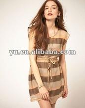 2012 Summer Stripe Tunic Dress