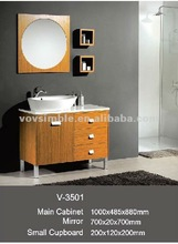 TOP quality solid wood bathroom furniture,vanity unit,high end bathroom vanities market types