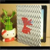 Red Bow /Zebra skin leather case for IPAD 2