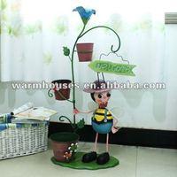 The beatles flower barrel iron dolls, wrought iron furnishing articles and super large iron dolls, household decoration, creativ