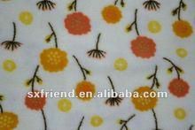 Flowers printing coral fleece fabric