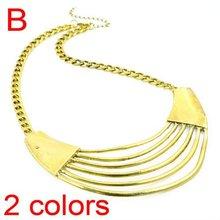 Big Alloy Drop Pendant Gold Necklaces, Summer Accessories For Women, NL-1729