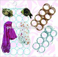28 Rings Scarf Hanger / 28 Holes Belt Ties Hangers/ ring scarf hanger of paper hanger