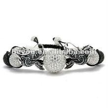 Shamballa Dragon Head Crystal Balls Bracelets New Style for 2012