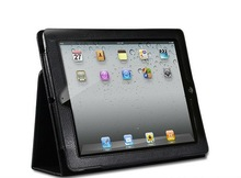 hot sales smart and flip with stand pu leather case for ipad3 3rd Generation