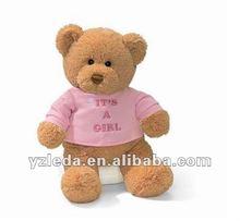 Stuffed Pink T-shirt Lover Teddy Bear
