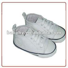 2012 fashion white new cheap plain canvas casual kid shoes pattern BH-CA106E