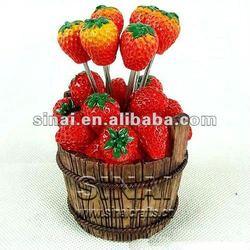 Strawberry Resin Fruit Forks