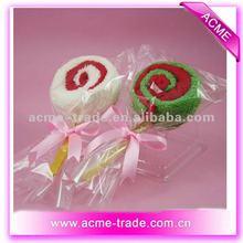 cute lollipops cake towel