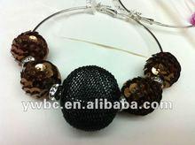 fashion big mesh ball basketball wives earrings jewelry (E730109)