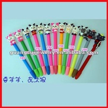 fashion polymer clay ballpoint pen plastic