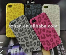 Mixed Colors Leopard Ultra-thin stretch forming PU Leather Case for Apple iPhone 4 4S