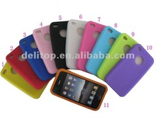 new circle gel Silicon case for iphone 4 4S