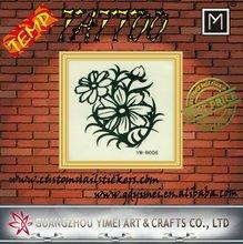 Pequeno de longa duração flor tatuagem temporária