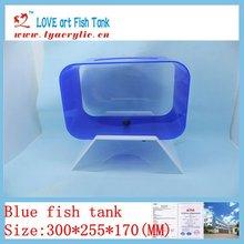 2012 new design and fashion mini blue fish aquarium