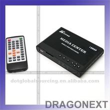 HDMI HD 1080P Media Center RM/RMVB/AVI/MPEG4 TV Player for USB & SD