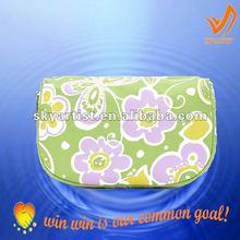 2012 fashionable printing polyester bag cosmetic