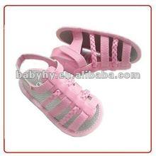 2012 Handmade Soft Sole Girls Babies sandals (BH-SL002J)