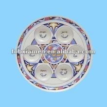 2012 hot item ceramic round passover plates