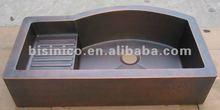 Copper Drainboard Sinks/Custom Kitchen Sinks/Hammered Copper Sink/Copper Sinks-B270282